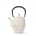 Japanische Teekanne Tsutsugata-Hakeme 0,4l weiß-gold