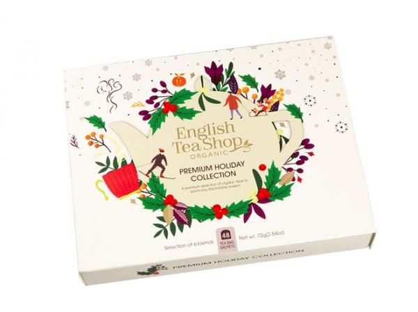 Wintertee-Kollektion in Papierbox Weihnachten in Weiß