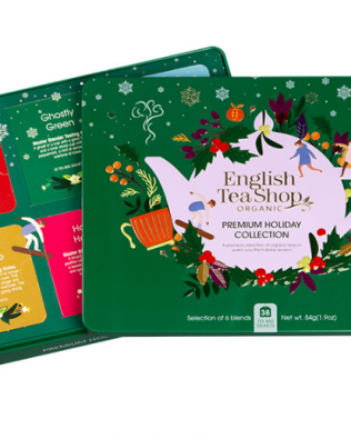 "English Tea Shop – Wintertee-Kollektion in edler Metalldose ""Premium Holiday Collection"" Grün, BIO, 36 Teebeutel"